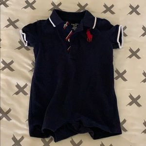 Navy Blue Ralph Lauren baby boys Shortall